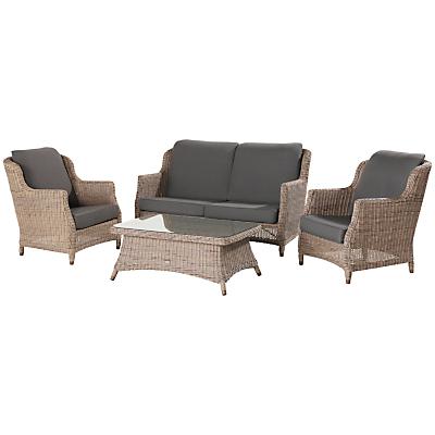 4 Seasons Outdoor Valentine High Back 4 Seater Garden Lounge Set