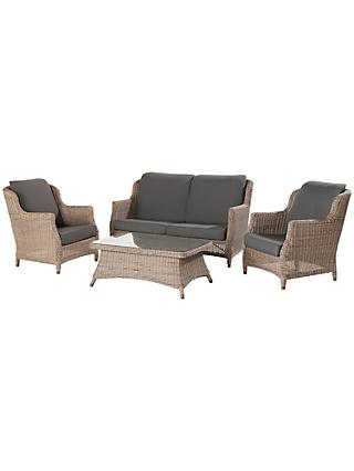 4 Seasons Outdoor Valentine High Back 4 Seater Garden Lounge Set