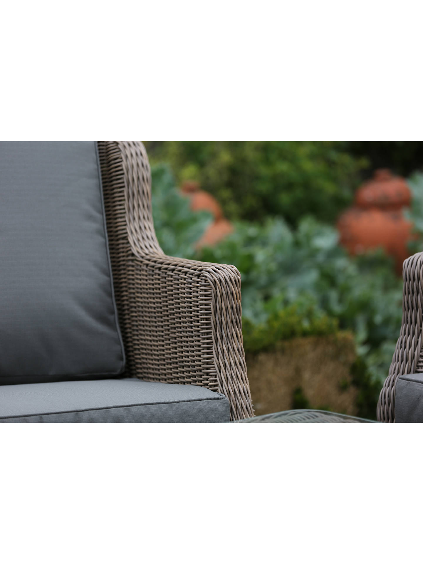 Buy 4 Seasons Outdoor Valentine High Back 4 Seater Garden Lounge Set, Pure Online at johnlewis.com