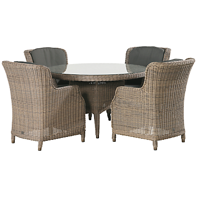 4 Seasons Outdoor Valentine High Back 4 Seater Garden Dining Set