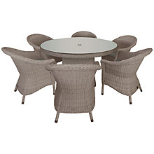 Buy 4 Seasons Outdoor Valentine 6 Seater Garden Dining Set Online at johnlewis.com