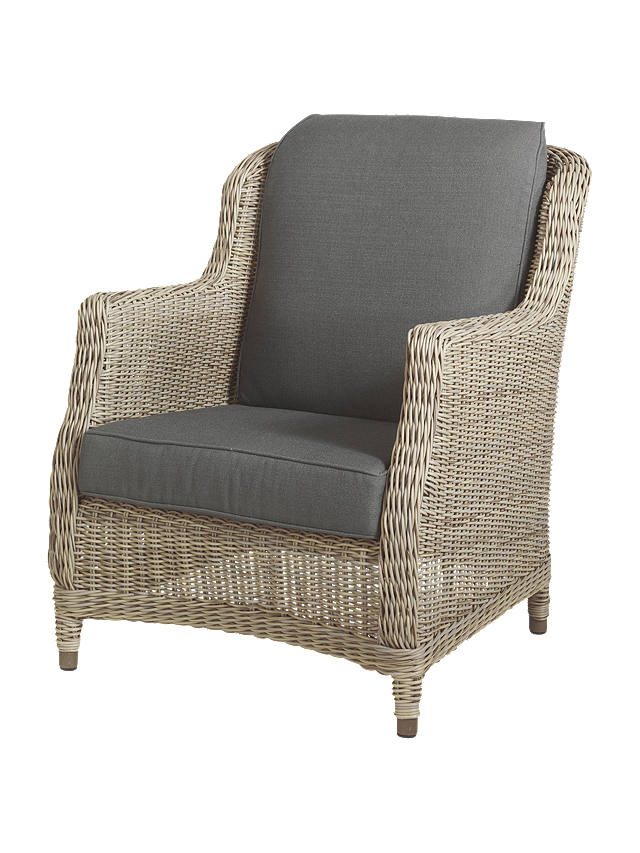 Buy 4 Seasons Outdoor Valentine High Back Garden Armchair, Pure Online at johnlewis.com