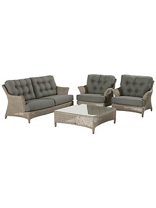 4 Seasons Outdoor Valentine Low Back 4 Seater Garden Lounge Set