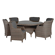 Buy 4 Seasons Outdoor Valentine High Back 6 Seater Garden Dining Set Online at johnlewis.com