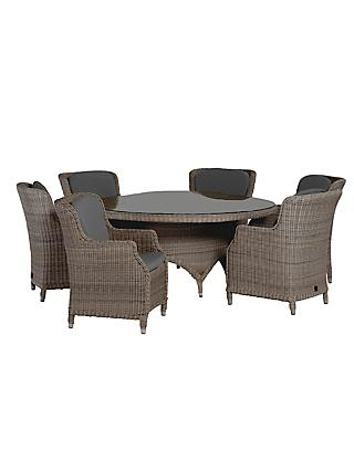 4 Seasons Outdoor Valentine High Back 6 Seater Garden Dining Set