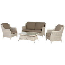 Buy 4 Seasons Outdoor Valentine High Back 4 Seater Lounge Set Online at johnlewis.com