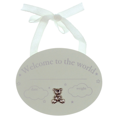 John Lewis Welcome To The World Hanging Wall Plaque, One Size