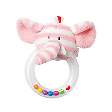 Buy Manhattan Toy Giggle Elephant Soft Toy Ring Rattle Online at johnlewis.com