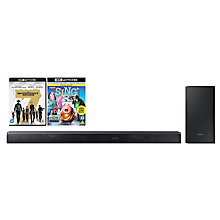 Buy Samsung HW-K850 Dolby Atmos Bluetooth Wi-Fi 3.1.2 Sound Bar System with Wireless Subwoofer & Multiroom Online at johnlewis.com