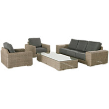 Buy 4 Seasons Outdoor Kingston 5 Seater Garden Lounge Set, Pure Online at johnlewis.com