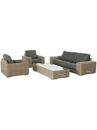 4 Seasons Outdoor Kingston 5 Seater Garden Lounge Set, Pure