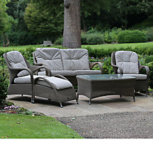 Buy 4 Seasons Outdoor Sussex 4 Seater Lounging Set, Taupe Online at johnlewis.com