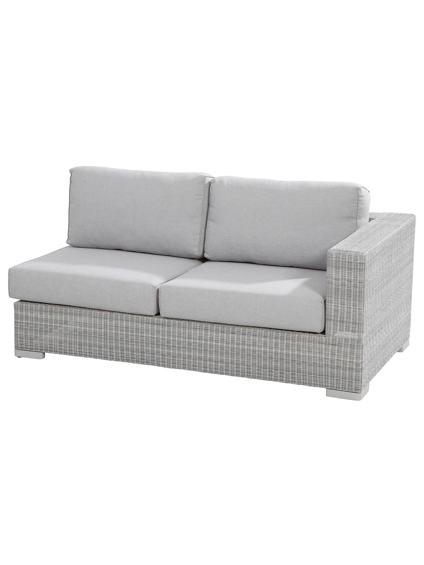 Cuba Loungeset Light Grey.4 Seasons Outdoor Lucca 6 Seater Modular Lounge Set Light Grey At