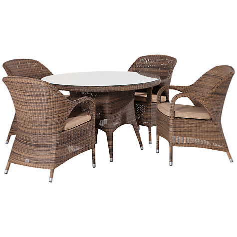 Buy 4 Seasons Outdoor Sussex 4 Seater Dining Set, Taupe Online At  Johnlewis.com