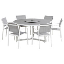 Buy 4 Seasons Outdoor Tosca 6 Seater Garden Dining Set, White / Steel Online at johnlewis.com