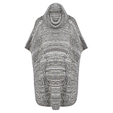 Buy Celuu Alba Cable Knit Poncho, Grey Online at johnlewis.com