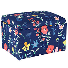 Buy John Lewis Plockade Medium Sewing Basket, Blue Online at johnlewis.com