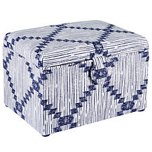Buy John Lewis Yoshio Medium Sewing Basket, Blue Online at johnlewis.com