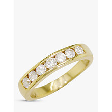 Buy EWA 18ct Gold Diamond Eternity Ring, 0.5ct Online at johnlewis.com