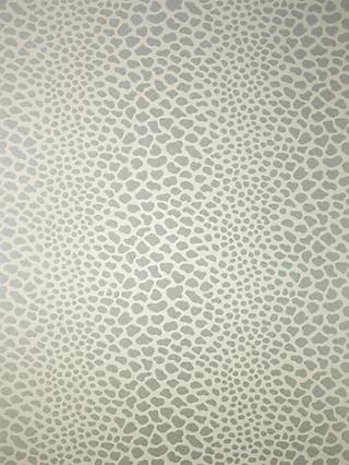 Osborne & Little Panthera Wallpaper, Pale Linen / Silver W6306-02
