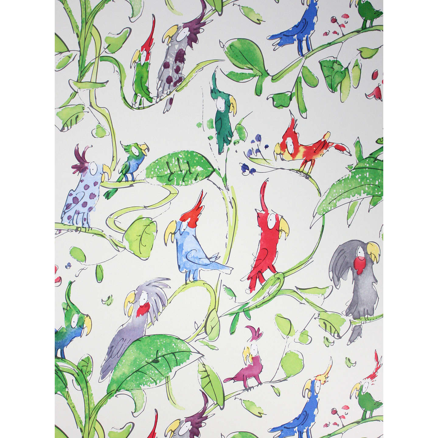 BuyOsborne & Little Cockatoos Wallpaper, Green W6060-01 Online at johnlewis.com