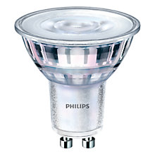 Buy Philips 4.4W GU10 LED Cool White Bulb, Clear, Dimmable Online at johnlewis.com