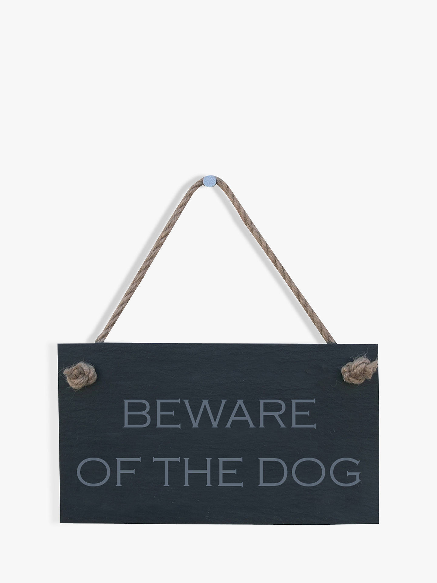 Buy The House Nameplate Company Beware of The Dog Slate House Sign Online at johnlewis.com