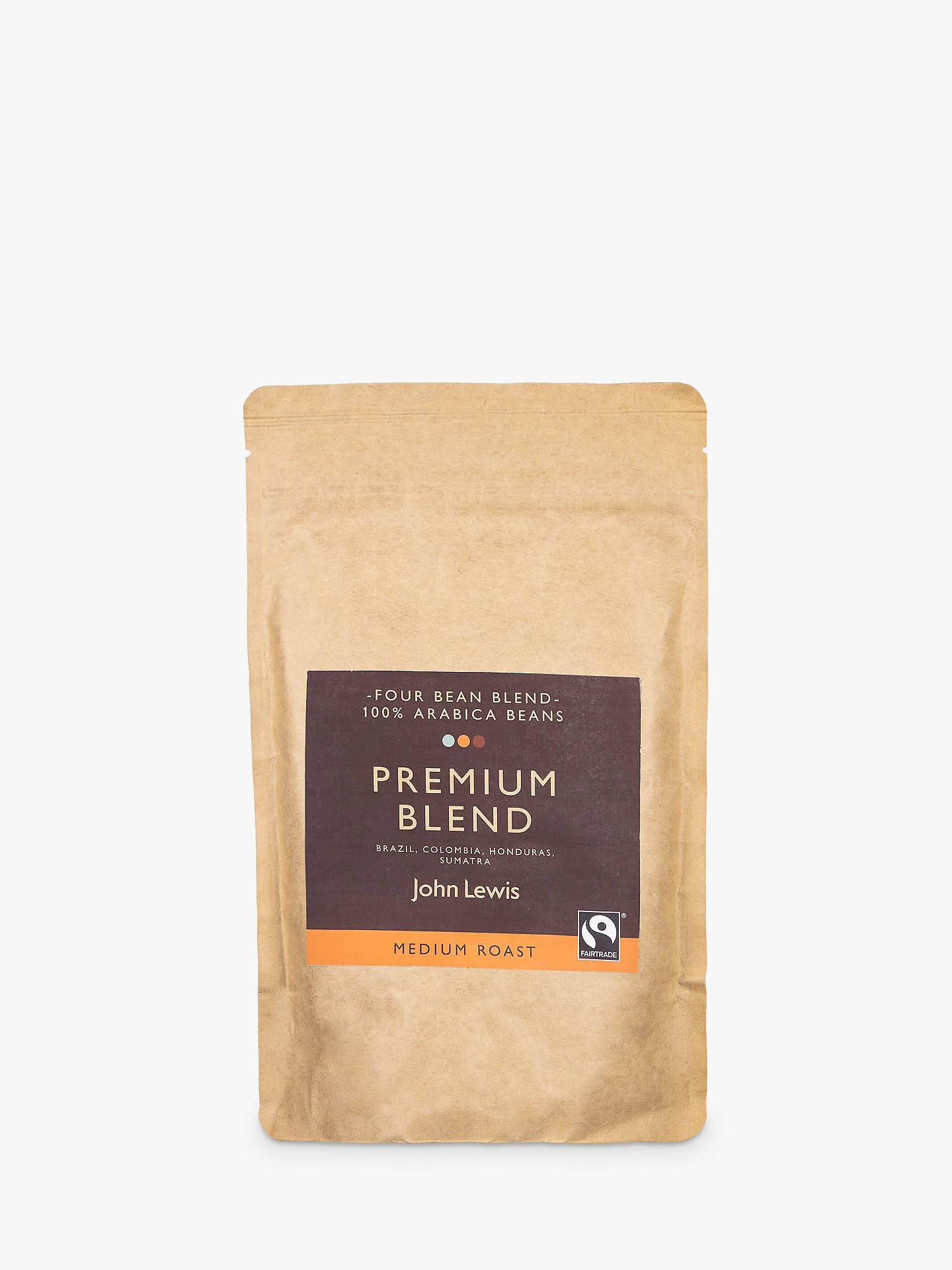 John Lewis Partners Fair Trade Premium Blend Coffee Beans 250g
