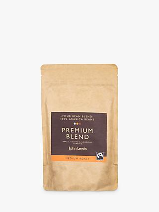 John Lewis & Partners Fair Trade Premium Blend Coffee Beans, 250g
