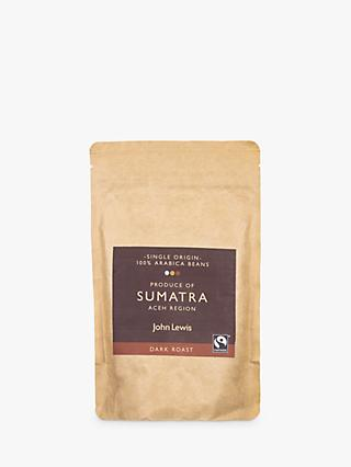 John Lewis & Partners Fair Trade Sumatra Coffee Beans, 250g
