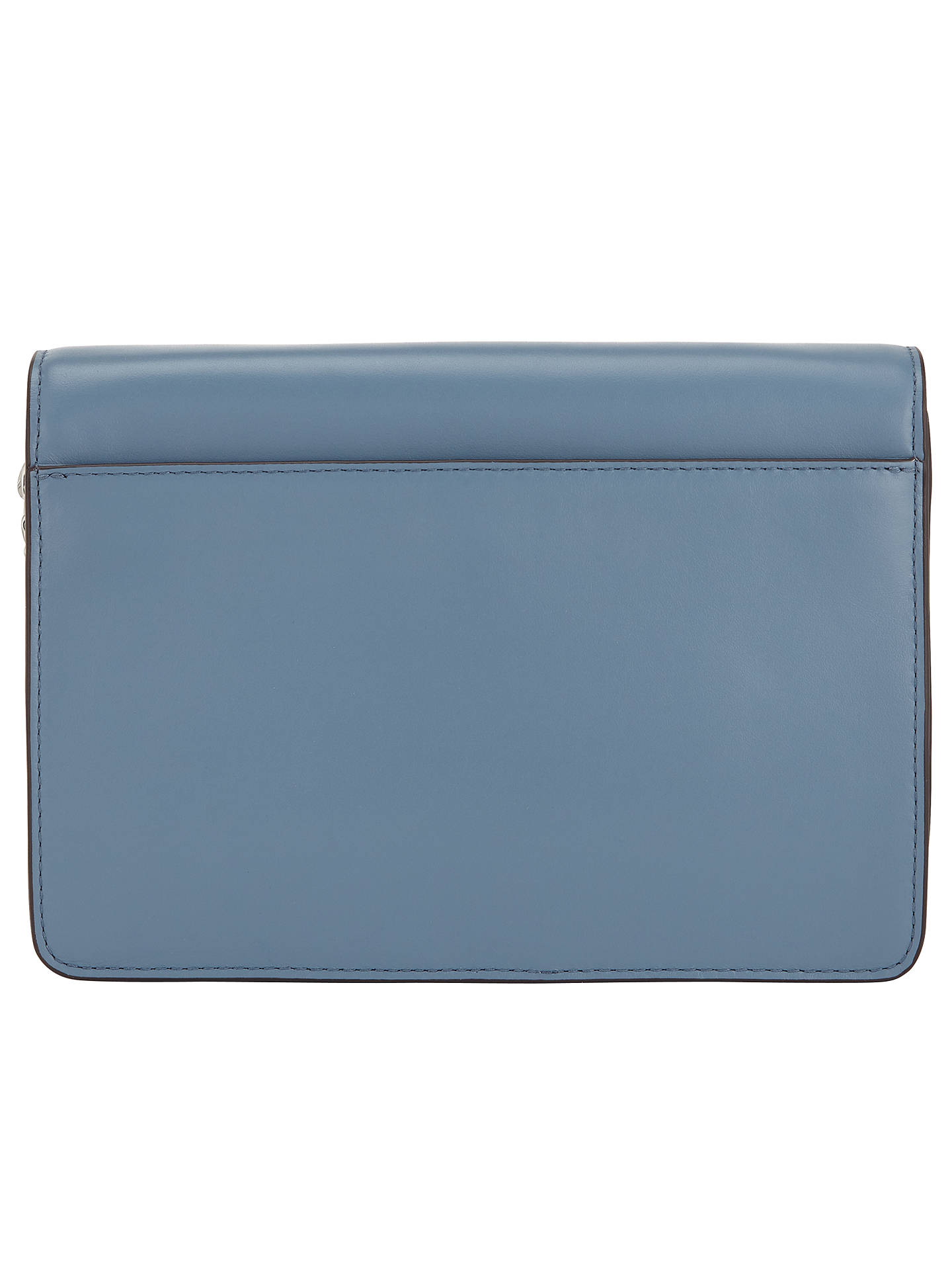 BuyMICHAEL Michael Kors Daniela Large Leather Across Body Purse, Denim Online at johnlewis.com