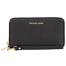 Buy MICHAEL Michael Kors Mercer Large Leather Phone Case Purse Online at johnlewis.com