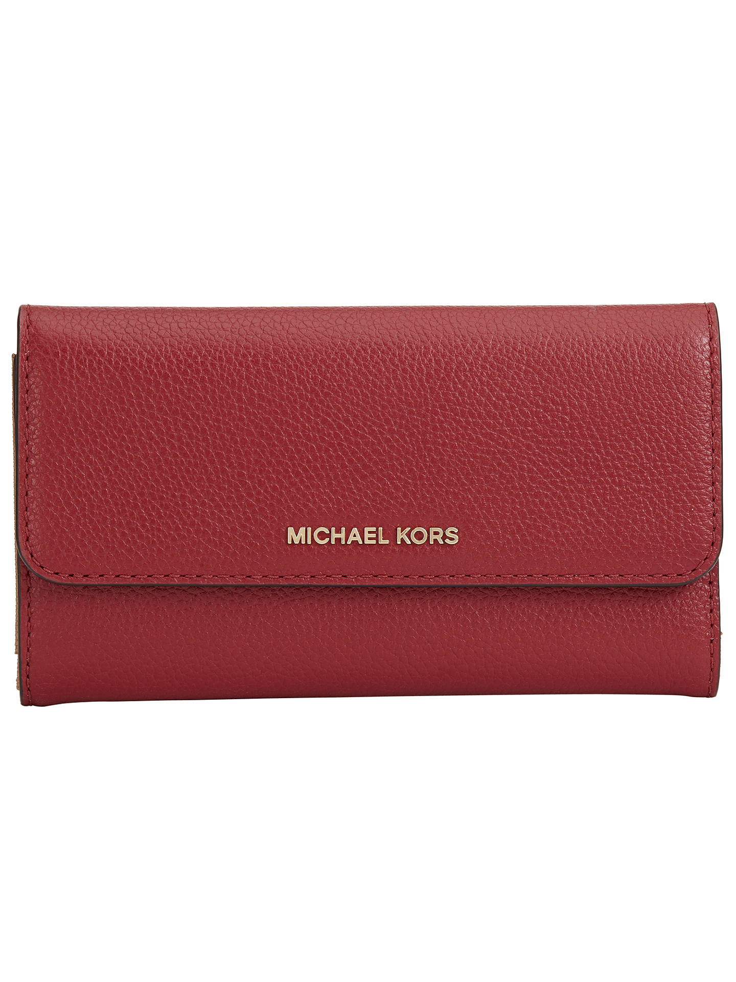 d5917e21a3a0f MICHAEL Michael Kors Mercer Large Leather Trifold Purse at John ...