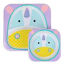 Buy Skip Hop Baby Melamine Unicorn Plate and Bowl Set Online at johnlewis.com