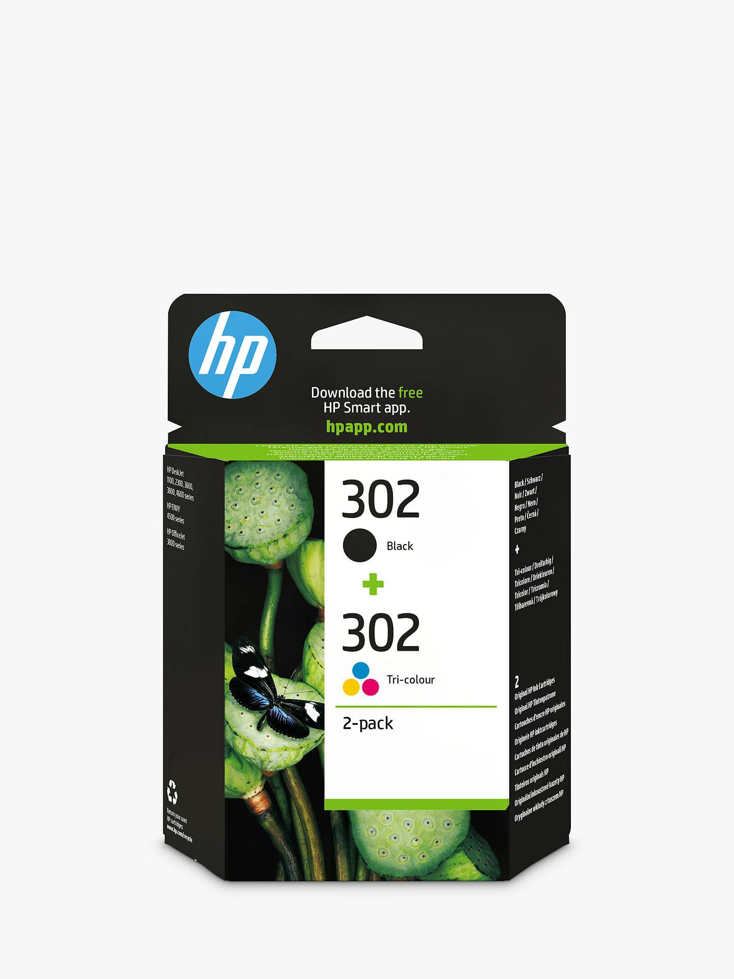 HP 302 Ink Cartridge Black & Tri-Colour Multipack, Pack Of 2