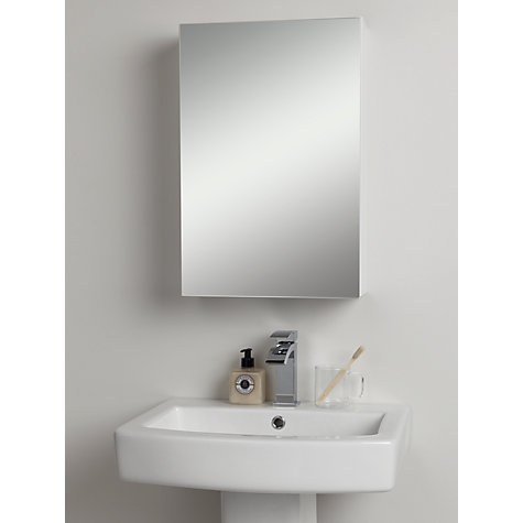 Buy John Lewis Single White Gloss Bathroom Cabinet John Lewis: john lewis bathroom design and fitting