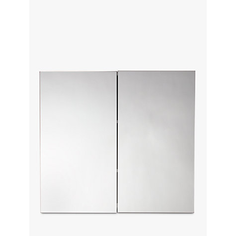buy john lewis double white gloss bathroom cabinet online at johnlewiscom