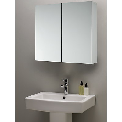 Image of John Lewis & Partners Double Mirrored Bathroom Cabinet, White