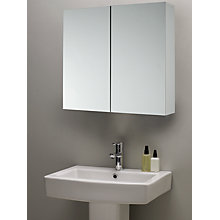 Buy John Lewis Double White Gloss Bathroom Cabinet Online at johnlewis.com
