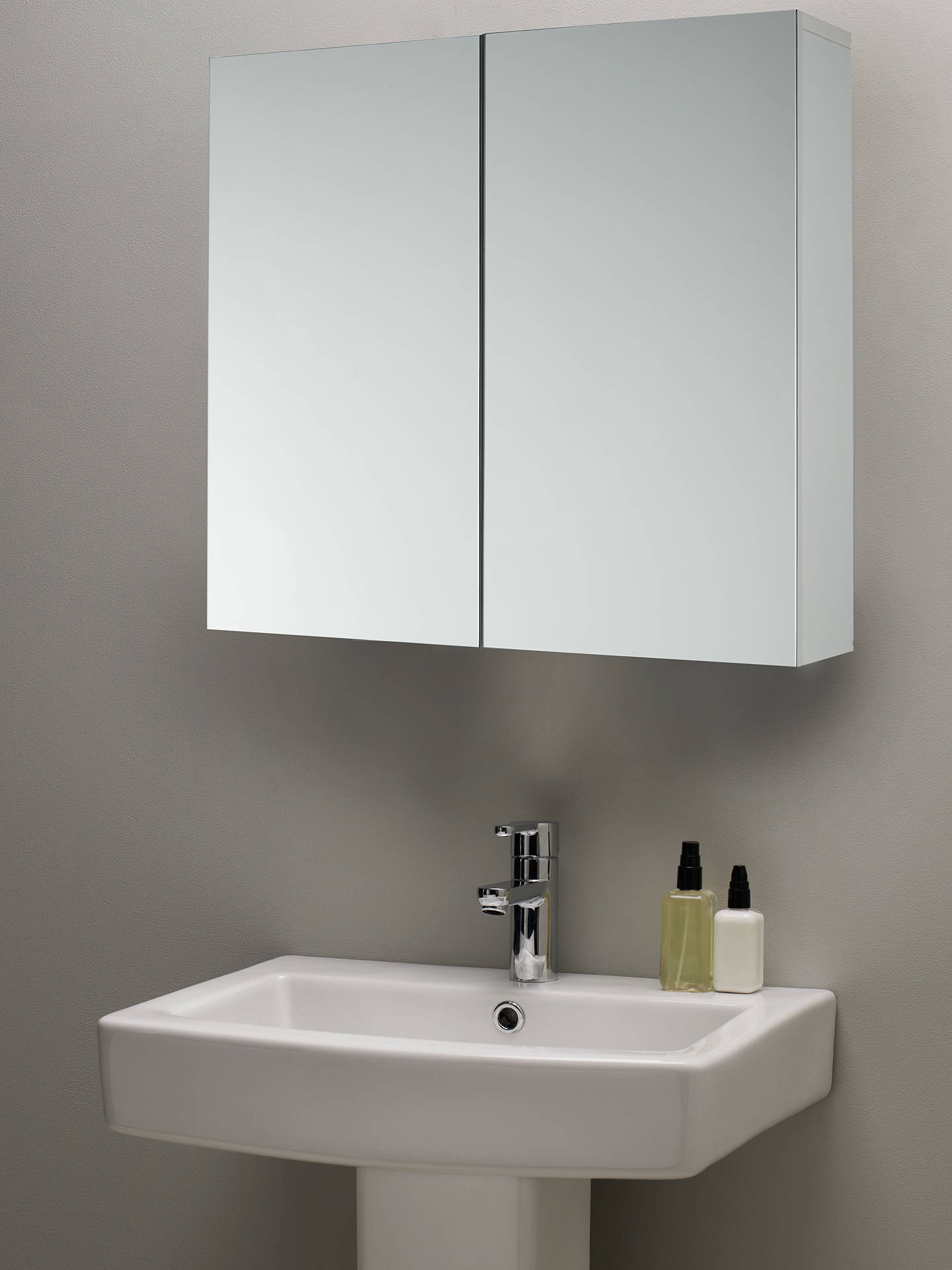 BuyJohn Lewis & Partners Double Mirrored Bathroom Cabinet, White Online at johnlewis.com