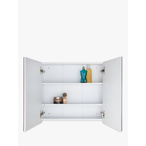 buy john lewis double white gloss bathroom cabinet online at johnlewiscom - Bathroom Cabinets John Lewis