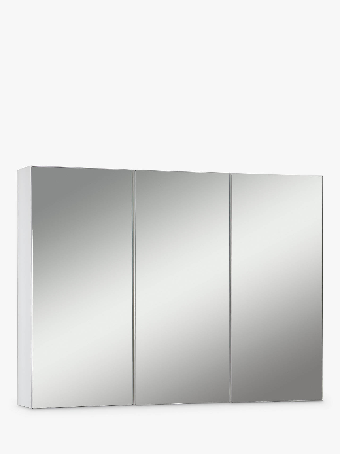 BuyJohn Lewis & Partners Triple Mirrored Bathroom Cabinet, White Online at johnlewis.com