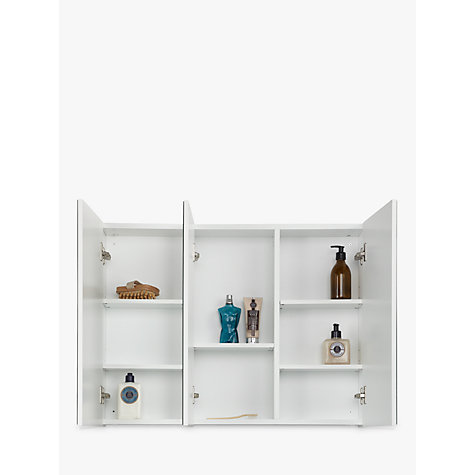 john lewis bathroom cabinets buy lewis white gloss bathroom cabinet 18030