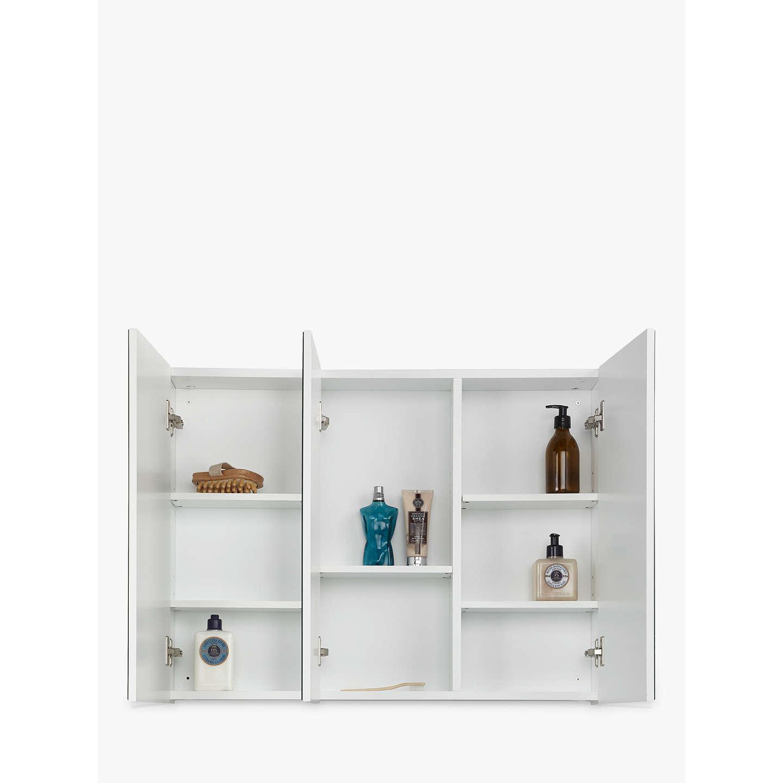 John lewis triple white gloss bathroom cabinet at john lewis for Bathroom cabinets john lewis uk