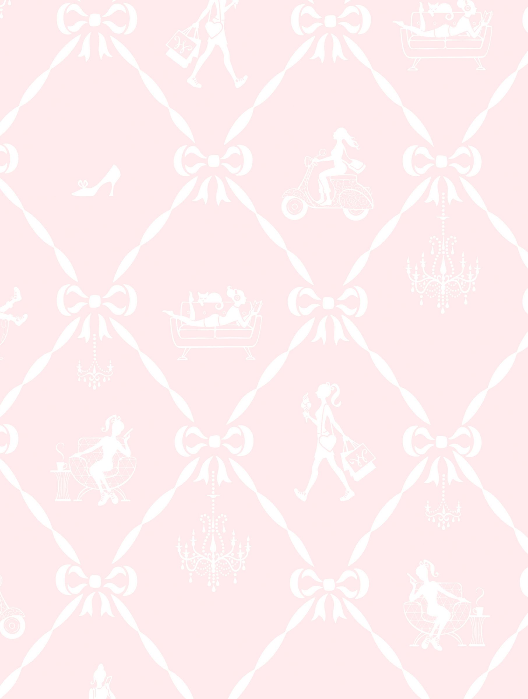 Galerie Galerie Jack n Rose Junior Girls and Bows Wallpaper