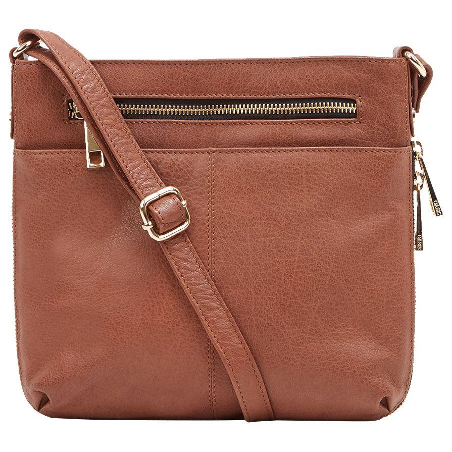 6816111313eb Oasis Anais Cross Body Bag, Tan at John Lewis & Partners