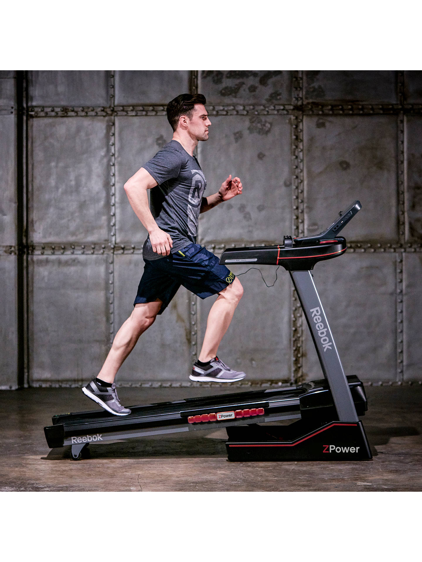 BuyReebok Z-Power Treadmill, Black Online at johnlewis.com