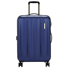 Buy John Lewis Munich 4-Wheel 67cm Suitcase, Blue Online at johnlewis.com