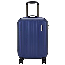 Buy John Lewis Munich 4 Wheel 55cm Cabin Suitcase, Blue Online at johnlewis.com