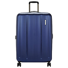 Buy John Lewis Munich 4-Wheel Spinner 80cm Suitcase, Blue Online at johnlewis.com